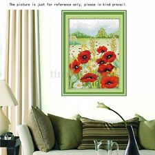 New Counted Cross Stitch Kit Embroidery Set 11CT Beautiful Flower Home Decor