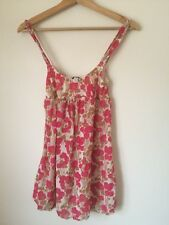 Cosabella Pink Floral Lined Strappy SummerTop Size 8  T3704