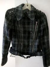 Guess Jeans Women's Knitted Moto Jacket/Coat, Zipper Up W/Lining, Size M