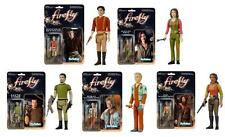 "FIREFLY SERENITY ReAction 3.75"" COMPLETE SET 5 Entire CREW Retro ACTION FIGURES"