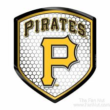 Pittsburgh Pirates Hi Intensity SHIELD Reflector Emblem Decal Baseball Auto Home