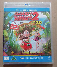 Cloudy WIth A Chance Of Meatballs 2 (Blu-ray, 2014) New Sealed Nordic IMPORT