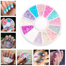 300pcs/carrousel Nail Art Set 2mm coloré semi-perle for Acrylique UV Gel Ongle