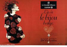 PUBLICITE ADVERTISING 026  2002  le Manège à Bijoux E. Leclercq (2p) st Valentin