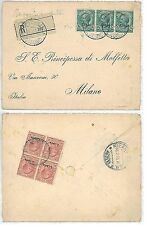 Colonie Italiane LIBIA LIBYA: storia postale -  BUSTA Raccomandata 1915