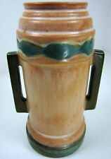 "Roseville Art Pottery Vintage FUTURA ""BEER MUG"" Vase 381-6 Buttressed Art-Deco"