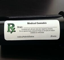 100 Rx ICON (*ALL STATES*) MEDICAL CANNABIS MARIJUANA LABELS - 420 STICKERS