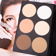 6 Color Contour Pressed Cheek Powder Makeup Blush Palette Nude Face Cosmetic CAF