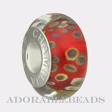Authentic Chamilia Silver Murano Rocky Raku Bead OB-105  *Retired *
