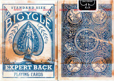 BLUE Deck Bicycle Distressed Expert Back Playing Cards Heritage Series New Poker