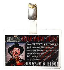 Nightmare On Elm Street Freddy Krueger ID Badge Cosplay Prop Costume Christmas
