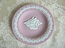 WEDGWOOD PINK JASPERWARE CONCH SEASHELL PLATE PIN DISH