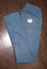 Apple Bottom Size 7/8 Womens Light Wash Low Rise Skinny Jeans