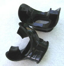 Mouthpiece Black Liquid Silicone for Second Stage With Clamp
