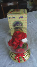 Missionary Auction New Boxed Musical Flower Globe  Ornament