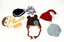 Lot 7 Newborn Baby Mostly Boys Knitted Hats Caps Photo Studio Photography Props