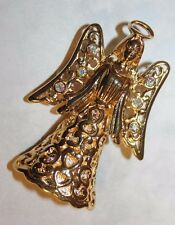 TRIFARI signed ANGEL PIN/PENDANT WITH AB STONES-STUNNING AND EXCELLENT!!!!!!!!!!