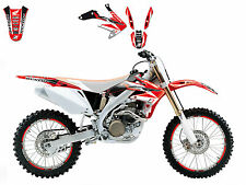 BLACKBIRD HONDA CRF 450 2005 2006 2007 2008 KIT GRAFICHE ADESIVI DREAM 3 NERO