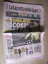 LA GAZZETTA DELLO SPORT=27/11/2014 Champions League Malmoe-Juventus 0-2