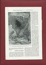 Grotte Il Mistero del Lago Morto di San Canziano 1924 Illustrato L.V. Bertarelli