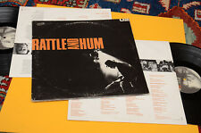 U2 2LP RATTLE AND HUM 1°ST ORIG ITALY GATEFOLD COVER ED INNER TESTI