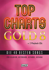 Top Charts Gold 8 with 2 Playback CDs for Piano, Keyboard, Guitar and Vocals