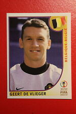 PANINI KOREA JAPAN 2002 # 551 BELGIQUE BELGIE DE VLIEGER WITH BLACK BACK MINT!!!