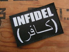 Patch Velcro - INFIDEL NOIR - US taliban AFGHANISTAN irak Airsoft INTERVENTION