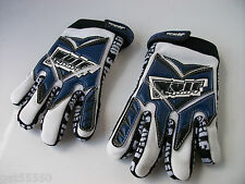 NEW BLUE WULFSPORT AGE 8-10 Sz XS KIDS MOTOCROSS OFF ROAD QUAD GLOVES YZ PW LT