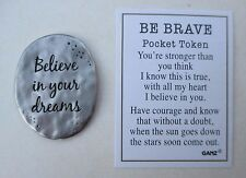 bb Believe in your dreams you can fly BE BRAVE Pocket token charm Ganz