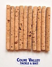 Cork Sticks Inserts 10 X 6mm wide, 65mm Long, strong and Buoyant