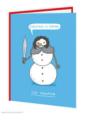 Brainbox Candy Christmas Xmas cards funny novelty joke humour snowman jon snow