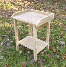 Handmade Wooden Greenhouse Garden Potting Table Staging Bench with trim