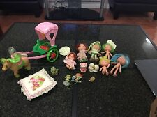 Vintage, Strawberry Shortcake Horse with Carriage LOT