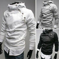 Newest fashion Korean Men's Slim fit hoodies Jacket Coat IN 4Colors XS S M L