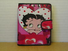 BETTY BOOP BI-FOLD WALLET SM #07 HEARTS DESIGN RED & WHITE