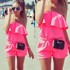 Hot Summer Womens Celeb Sexy Mini Playsuit Ladies Jumpsuit Shorts Beach Romper