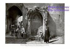 Davidstrasse Jerusalem XL Druck 1924 Grotemeyer * Münster Arabischer Brunnen
