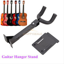 Guitar Hanger Stand Holder Wall Mount Display Acoustic Electric Instrument Black