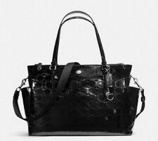 NWT COACH Peyton Black Leather Embossed C Diaper Multifunction Bag F33491 R$598