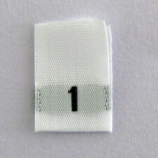 size 1 labels-Qty 100-One clothing woven labels tags tab label tabs
