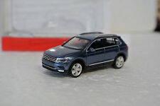 Herpa 38607 HO 1/87 Volkswagen VW Tiguan Metallic Blue C-9 Factory New In Box