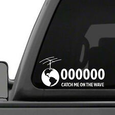 Shortwave Radio - Amateur Radio Callsign Antenna Window Decal - Custom Made