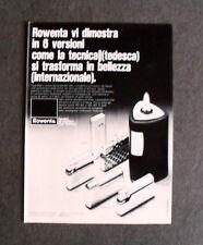[GCG] L181- Advertising Pubblicità -1971- ROWENTA RO 456 , IL MODERNO ACCENDINO