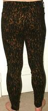 Seven for All Mankind Leopard SKINNY JEANS 28 (30 waist) Zip ankle New
