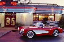 Framed Print - 1957 Chevrolet Corvette Convertible (Picture Poster Muscle Car)
