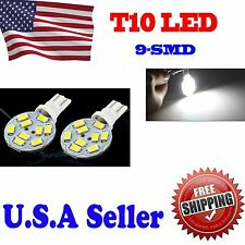660 Lumens 10X T10/921 RV Trailer Interior 12V LED Light Bulbs 9 High Power Chip
