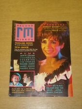 RECORD MIRROR 1987 AUG 22 SHIRLEY BASSEY NEW ORDER