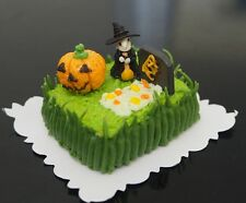 1:12 Dollhouse Miniatures Green Halloween Sheet Cake Night Festival Fancy Bakery