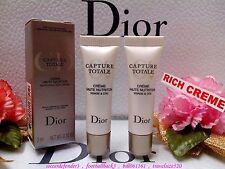 """◆Dior◆ 2x Capture Totale Nurturing Rich Cream (3ml/0.1oz) VISAGE&COU"""" F/ POST """""""